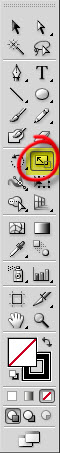 adobe scale tool in the tool bar