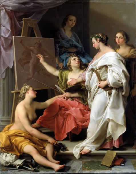 Pombeo Batoni allegory of the arts