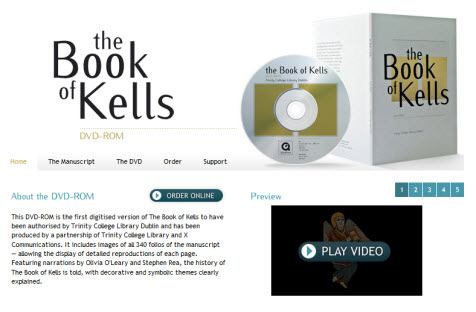 book of kells DVD website