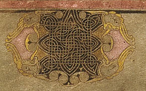 celtioc stencils in the book of Kells