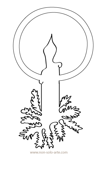 Christmas Candle Stencil