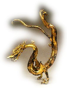 chinese dragon - gilded bronze