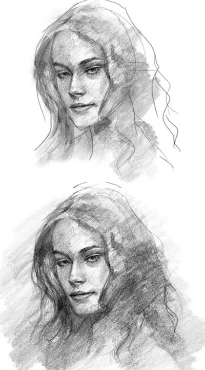 how to draw a face 1