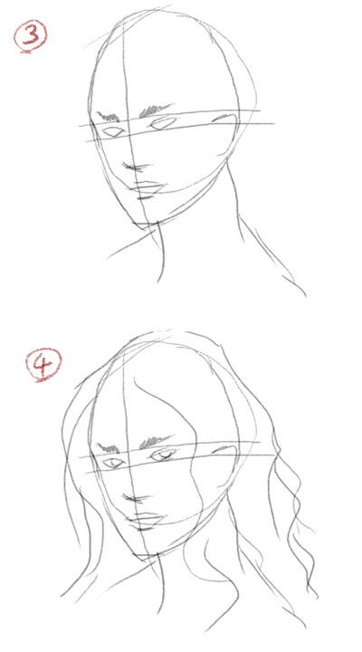 how to draw a face 2