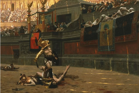 jean-leon gerome painting pollice verso