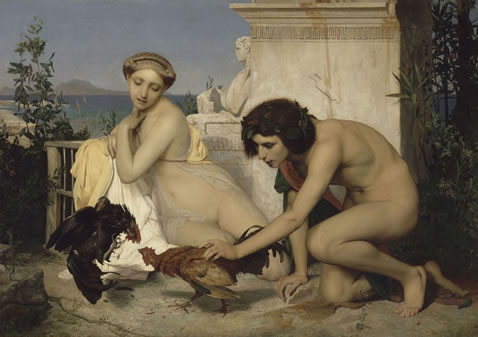 jean-leon gerome the cock fight 1847