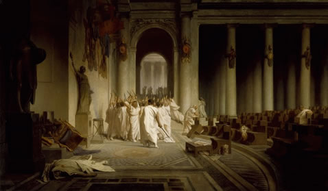 jean-leon gerome painting the death of cesar