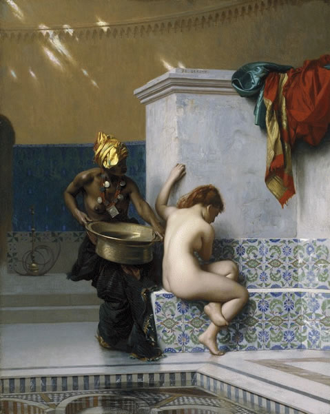 jean-leon gerome painting turkish bath, 1870