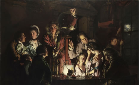 josehp wright of derby an experiment on a bird in a air pump, 1768