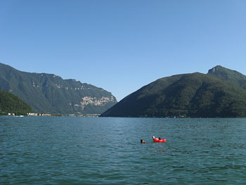 San Giorgio Mount and Lugano Lake