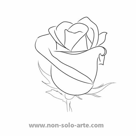 The gallery for --> Rose With Stem Outline