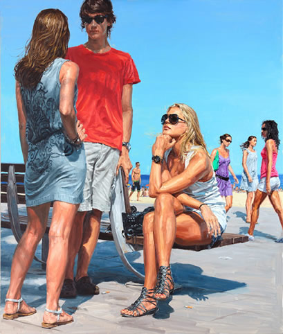 Painting by Michele del Campo: the other girl