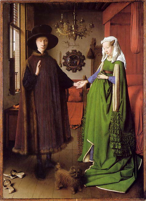 van eyck painting-arnolfini-marriage