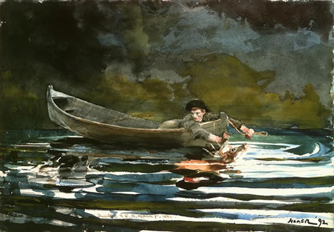 winslow homer sketch for hound and hunter