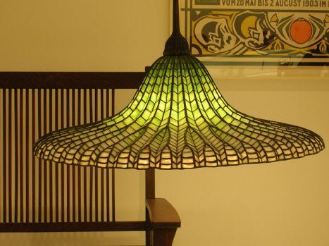 art nouveau glass tiffany lotus lamp 1905