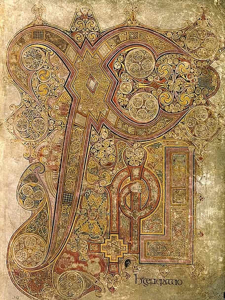 christian symbols the chi and rho in the book of kells