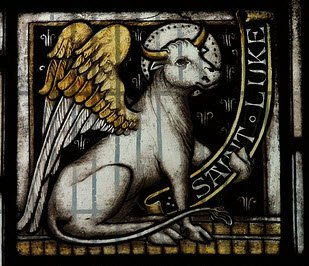 christian symbols luke the ox