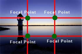 rules of thirds and focal point