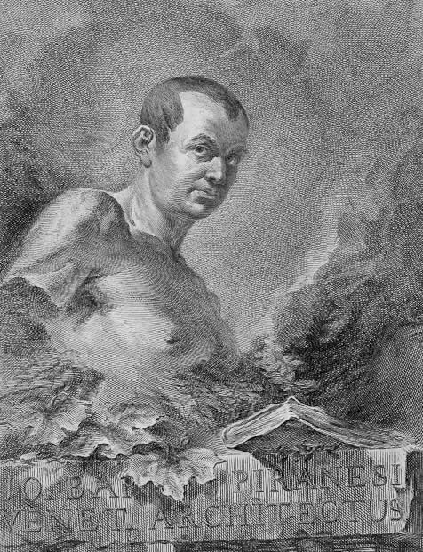 Giovanni Battista Piranesi portrait by a fellow engraver