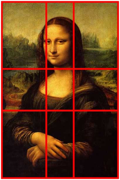 The golden section applied to many famous painting does not work. Bottom line: it's a guideline only and a tool among others. Composition is an art in itself and like variety.