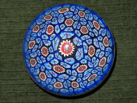 handcrafted glass paperweights, style millefiori, typical of Murano, Venice, Italy