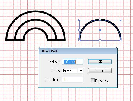 two parallel curves in Illustrator tutorial