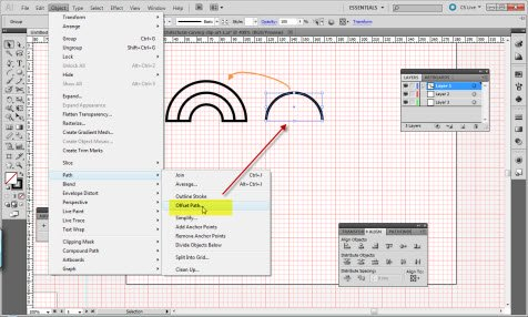 two parallel curves in Illustrator tutorial step 1
