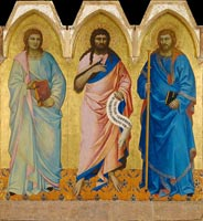medieval art painting, Nrado di Cione, three saints