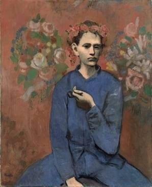 Pablo Picasso Garçon à la Pipe (boy with pipe), 1905, a rose period painting