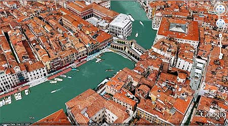 Venice, Italy is completely in 3D on Google Earth
