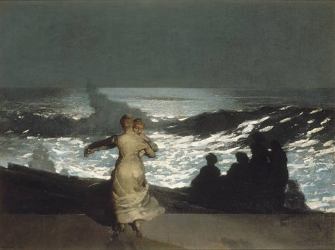 Winslow Homer painting a Summer night, 1890