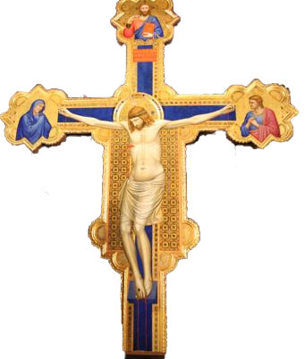 Giotto Painting, cross restaured