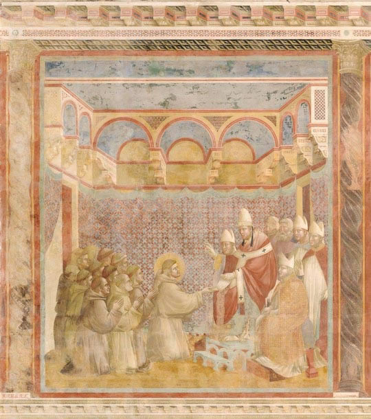 INNOCENZO III blesses St. Francis and his order