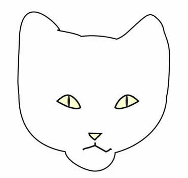 how to draw a cat step by step, face, 2
