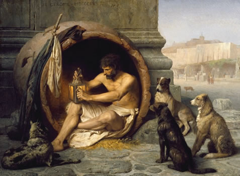 jean-leon gerome painting, diogenes