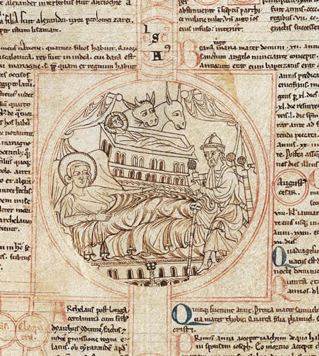 medieval drawing, Peter of Poitiers, gnealogy of Christ