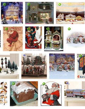 norman rockwell christmas village images