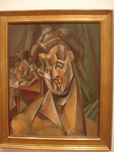 Pablo Picasso woman with pears oil on canvas, 1909, made during the summer in Horta de Hebro, Spain