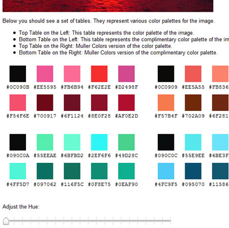 patorjik color palette result page with slider