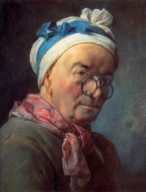 Chardin painting, self-portrait, 1771, at age 72