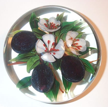 handcrafted glass paperweight by master artist Rick Ayotte