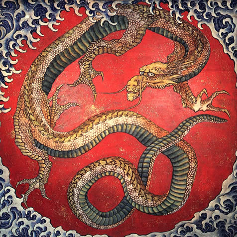 apanese dragon paintings