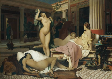 jean-leon gerome, greek interior, the women apartments, 1850