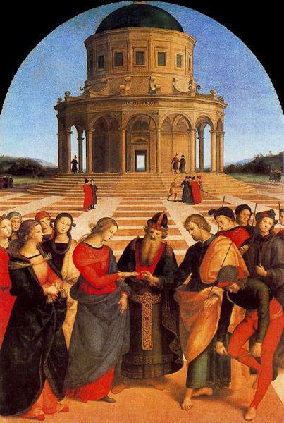 Raphael Painting, probably his masterpiece, the wedding of the vergin