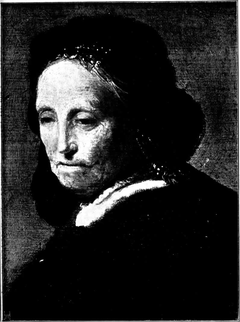 rembrandt painting of his mother ca.1628