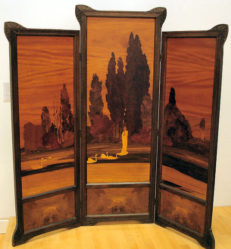 art nouveau furniture with Spndler marquetry