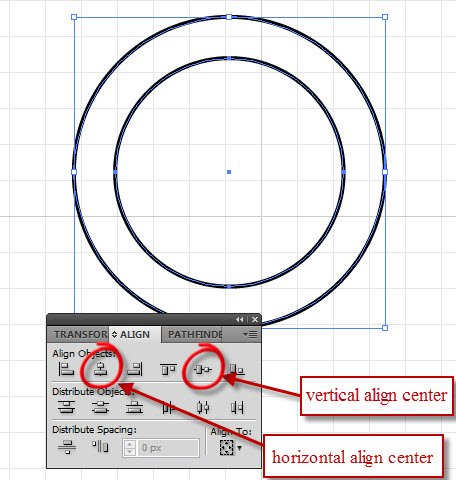 circle in circle with align window